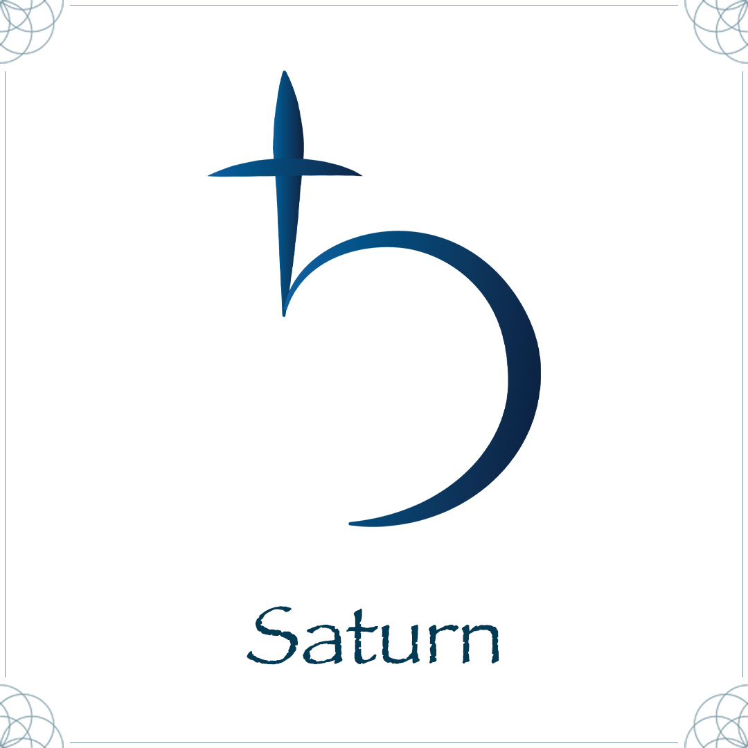 saturn astrology symblo