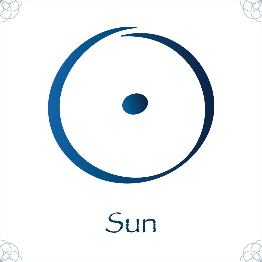 sun astrology symbol